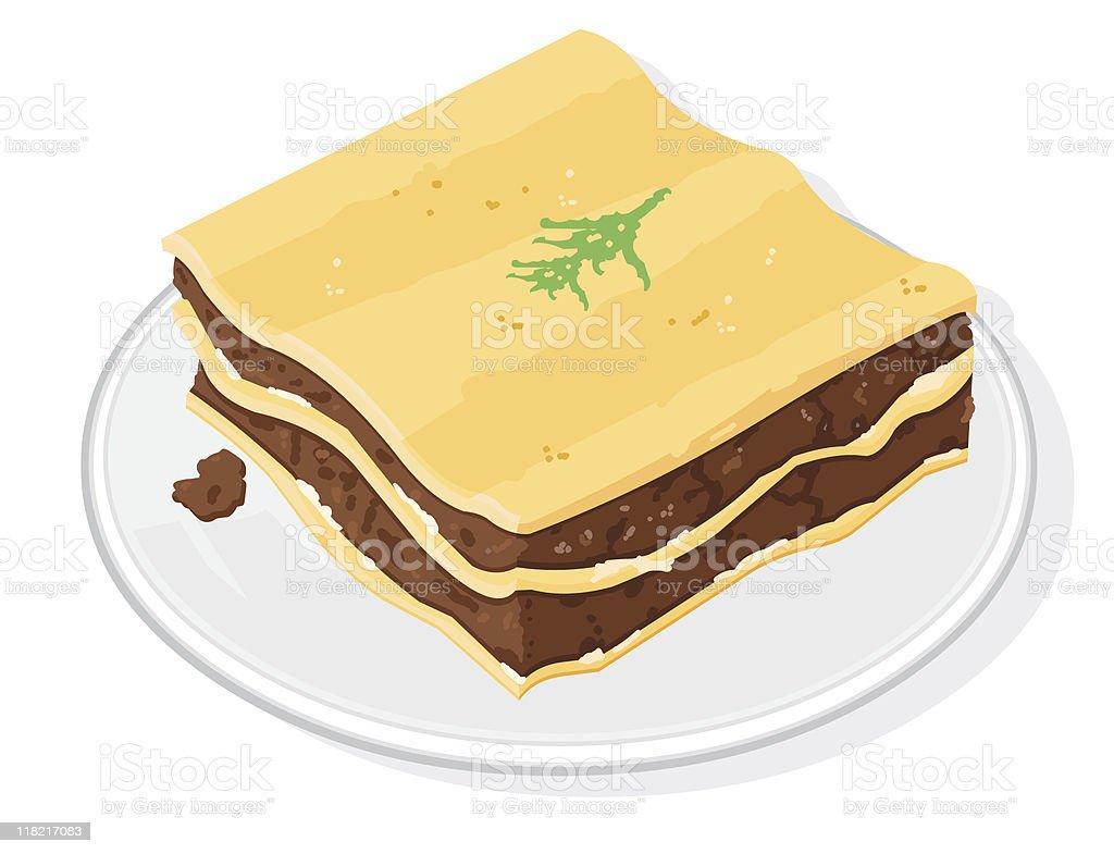 Lasagne royalty-free stock vector art