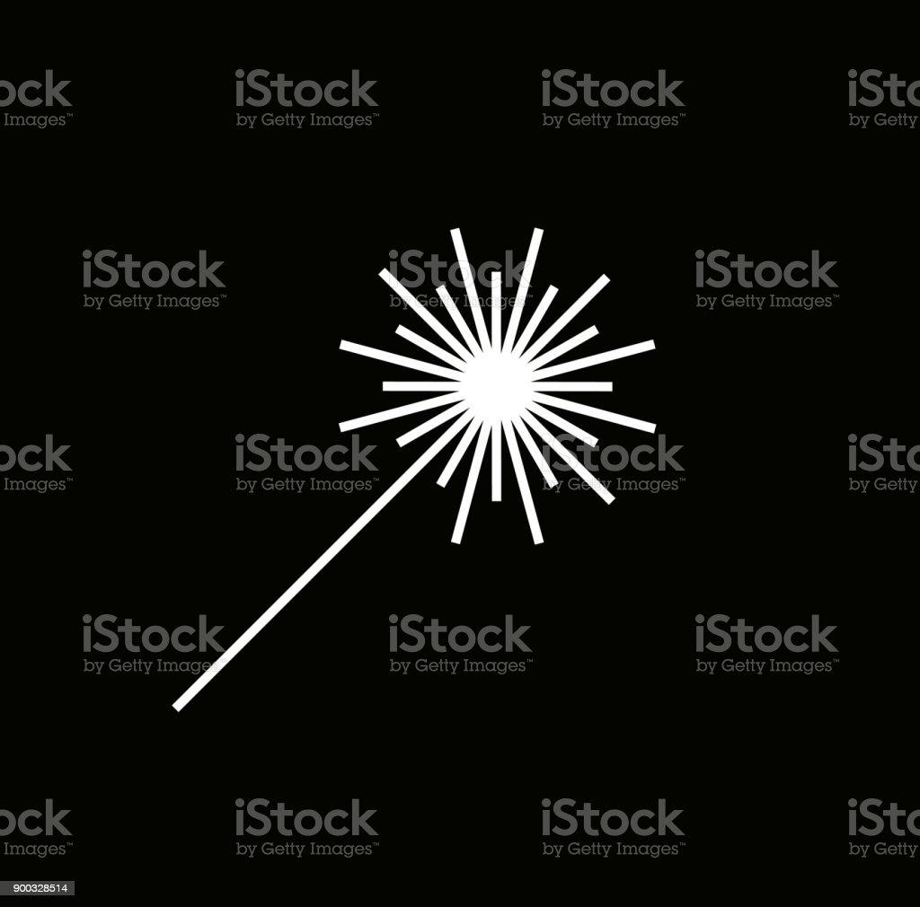 Laser beam icon,  - Vector illustration. vector art illustration