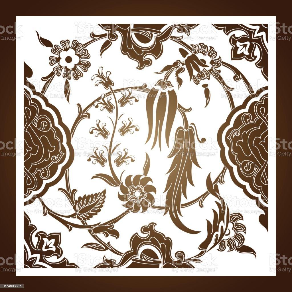 Ilustración de Vector De Arabescos Florales Ornamento Patrón Del ...
