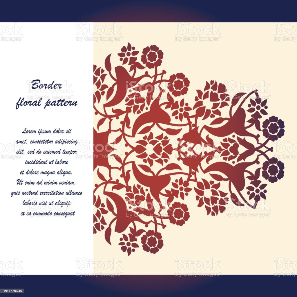 Laser Cut Floral Arabesque Ornament Pattern Vector Template Cutting ...