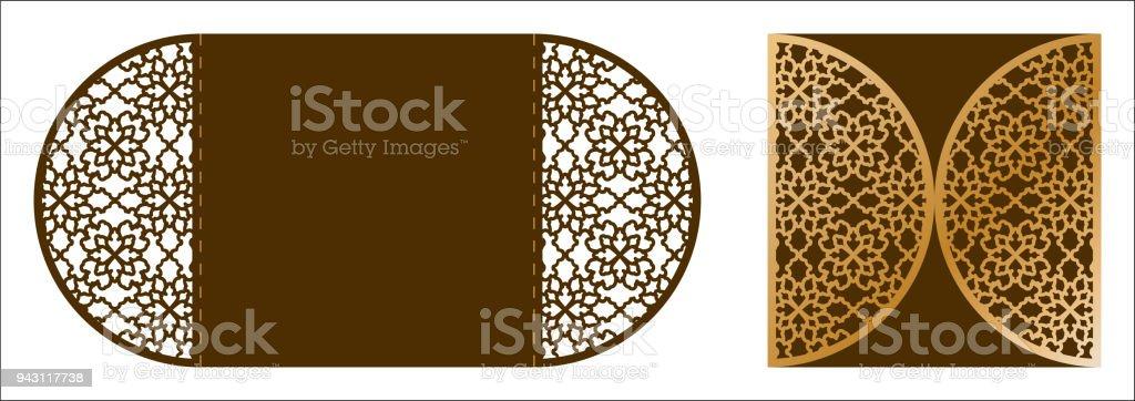 Laser Cut Ornamental Vector Template Luxury Greeting Card