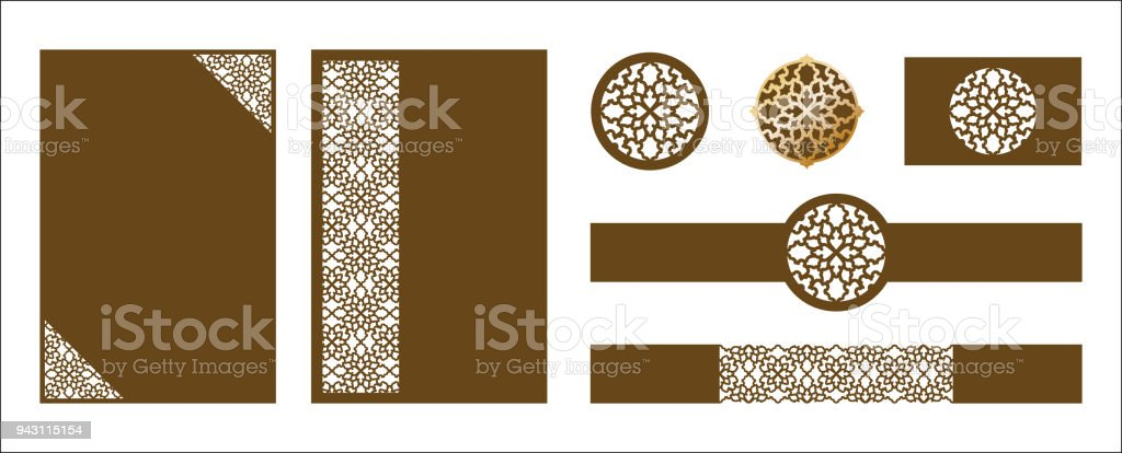 Laser cut ornamental vector template luxury greeting card wedding laser cut ornamental vector template luxury greeting card wedding invitation card template belly stopboris Choice Image