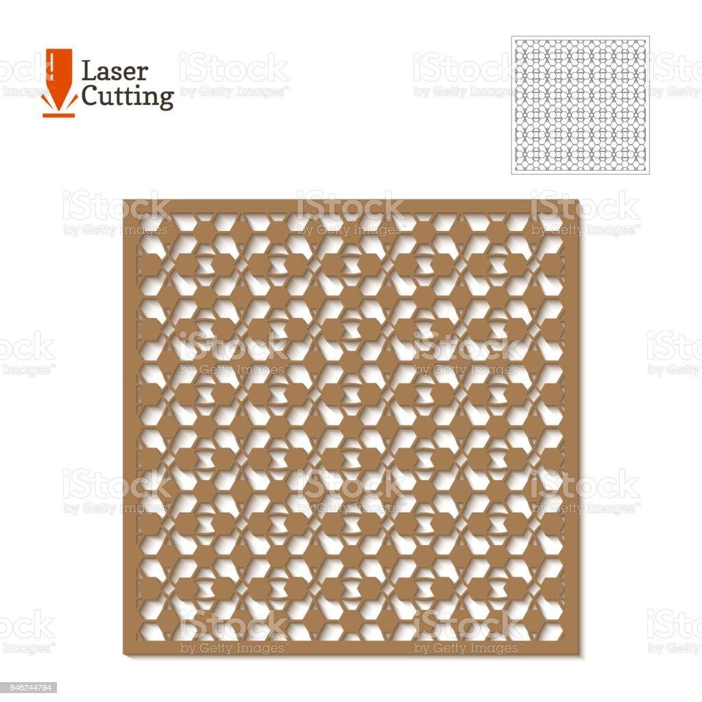 Ilustración de Panel De Corte Del Laser Plantilla De Vectores Para ...
