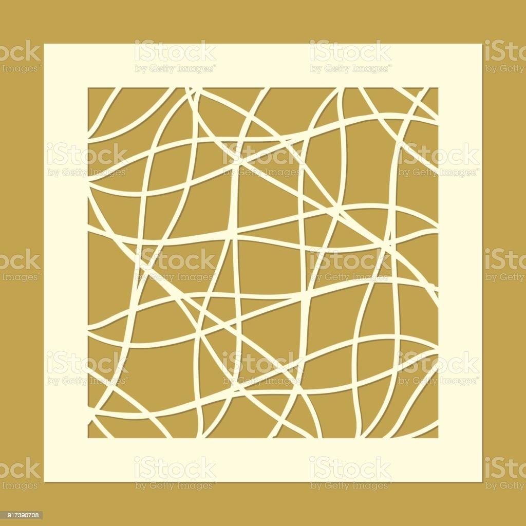 Ilustración de Plantilla Para Panel Decorativo Del Corte Del Laser ...