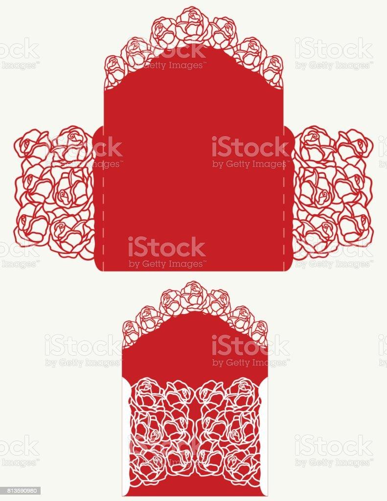 Laser Cut Wedding Invitation stock vector art 813590980 | iStock