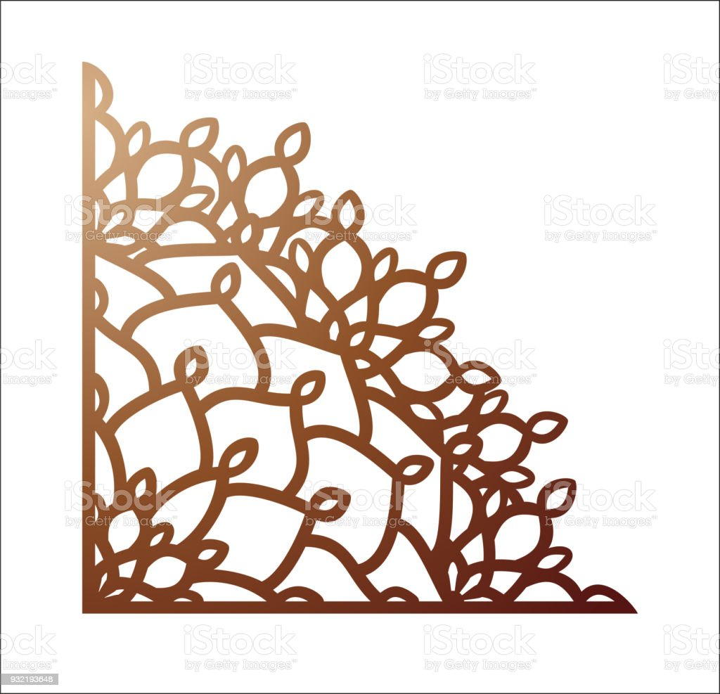 Laser Cutting Corner Vector Template For Paper Cutting Metal And ...