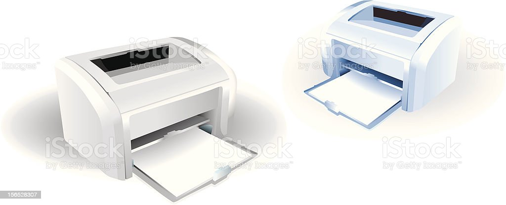 Laser printers royalty-free stock vector art