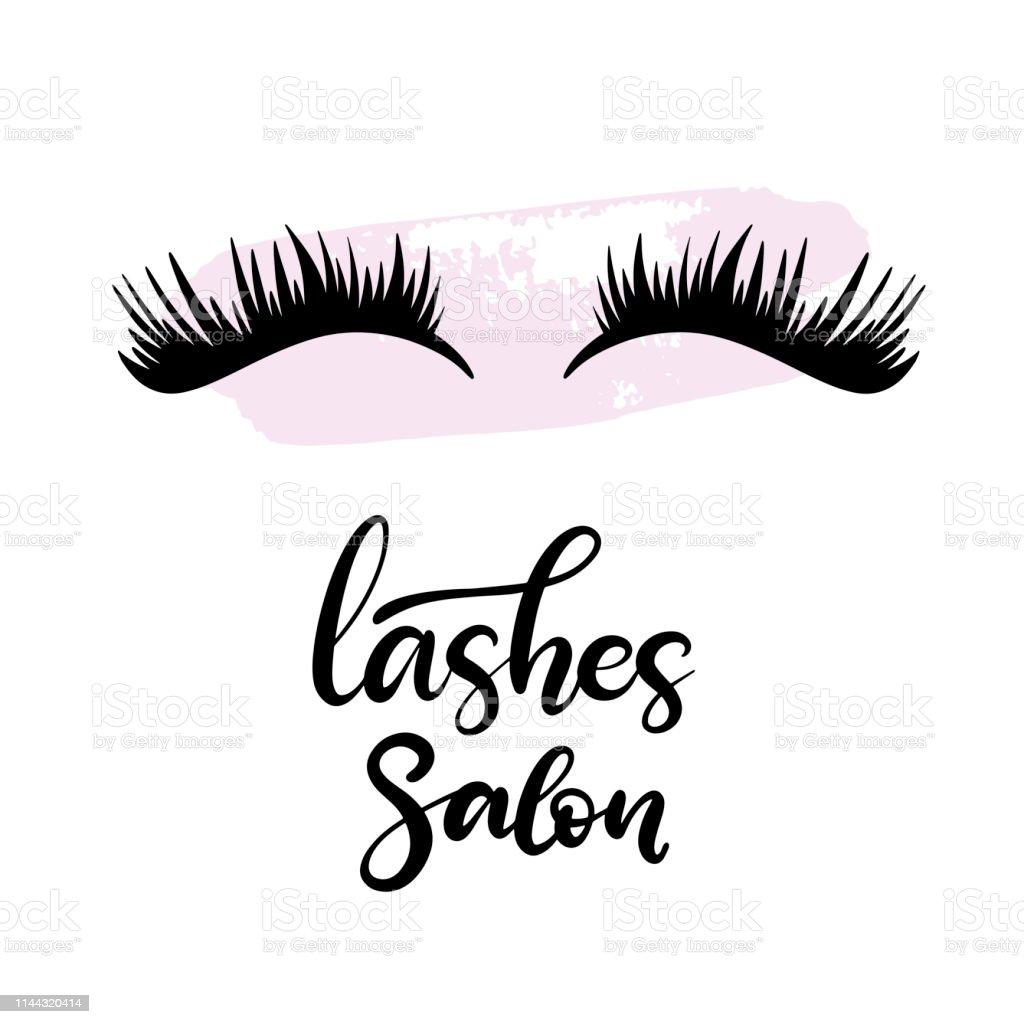 699a896a0fc Lashes lettering vector illustration. royalty-free lashes lettering vector  illustration stock vector art &