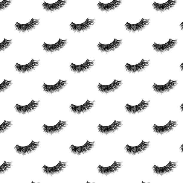 銀色閃光效應的睫毛向量圖案 - 睫毛 幅插畫檔、美工圖案、卡通及圖標