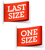 Last and One Size clothing labels