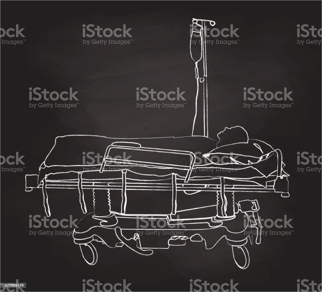 Last Breath Hospital vector art illustration