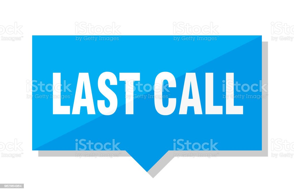 last call price tag vector art illustration