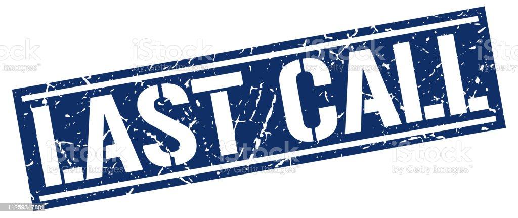 last call square grunge stamp
