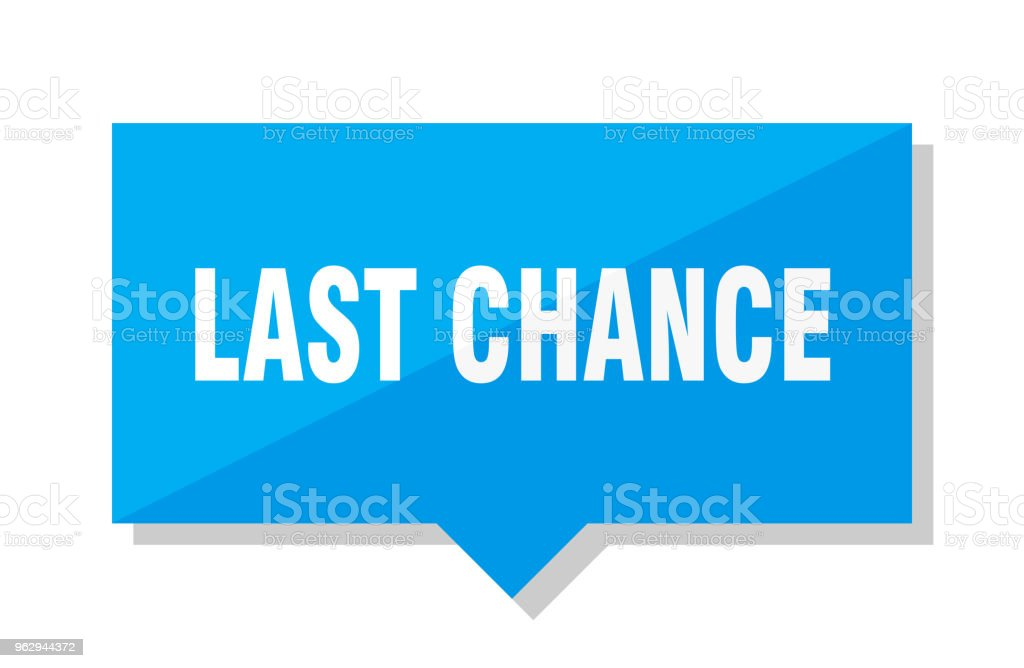 last chance price tag vector art illustration