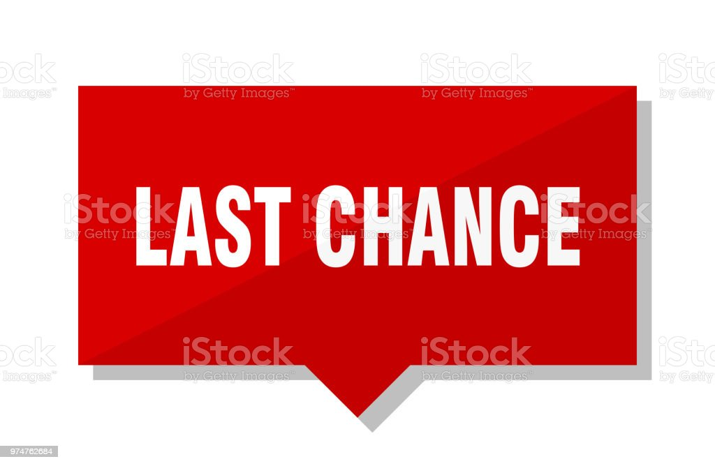 last chance red tag vector art illustration