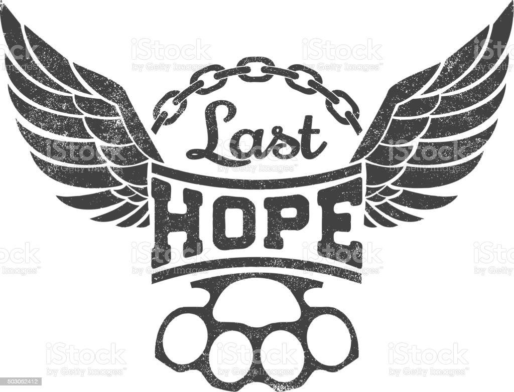 «La dernière espérance, illustration vectorielle - Illustration vectorielle