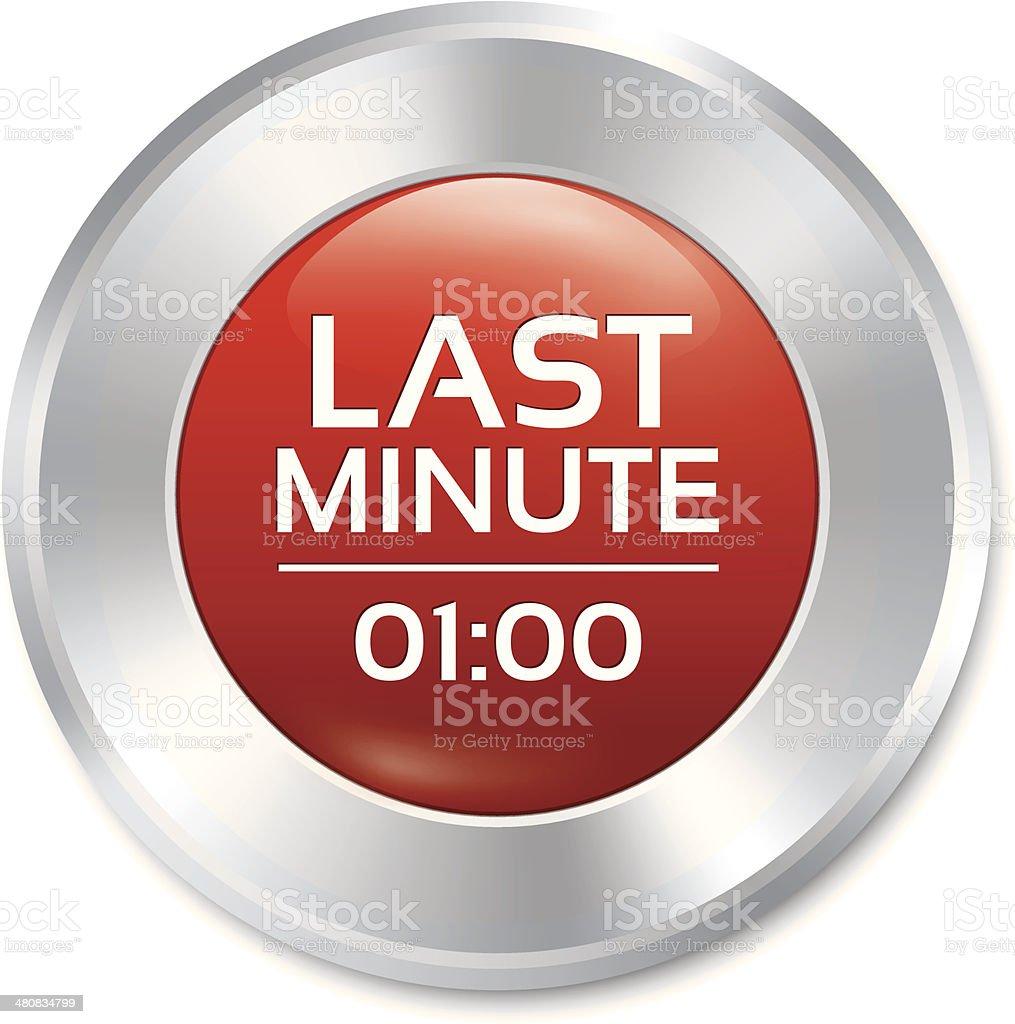 Last minute button. Special offer icon (sticker)