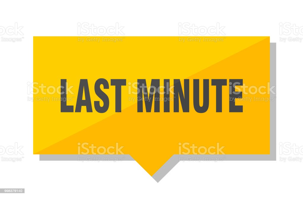 last minute price tag