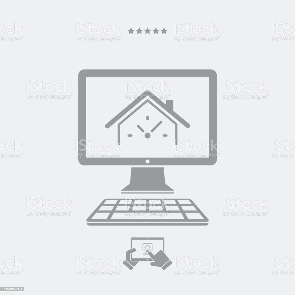 Last minute real estate internet promo - Vector icon for computer website or application vector art illustration