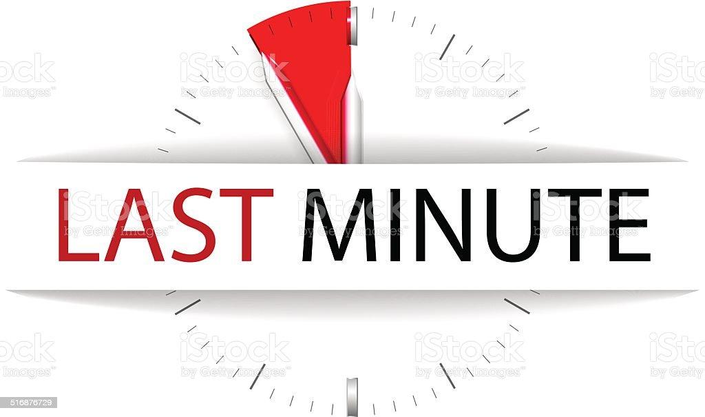 Last minute vector art illustration