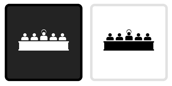 Last Supper Icon on  Black Button with White Rollover