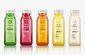 lastic juice bottles isolated on white background. Vector illustration