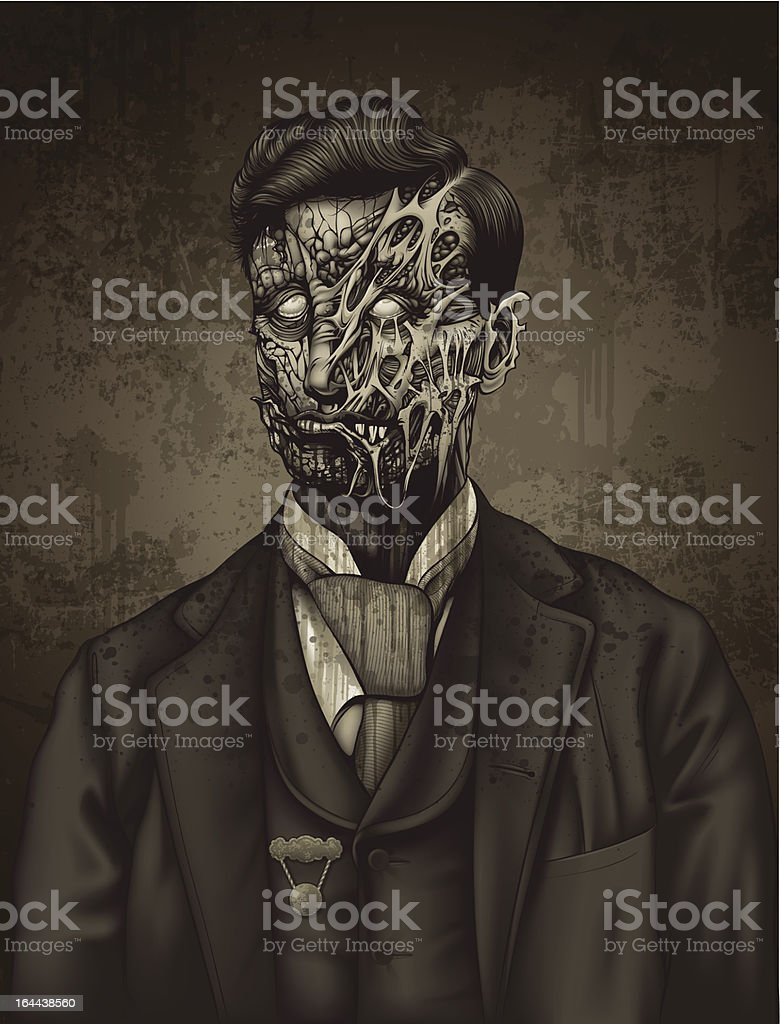 Late 19th Century Zombie Man Portrait: Robert royalty-free late 19th century zombie man portrait robert stock vector art & more images of 19th century