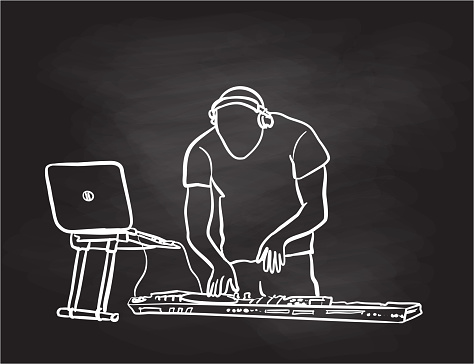DJ Late Night Chalkboard