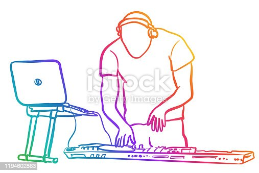 istock DJ Late Night Rainbow 1194602863