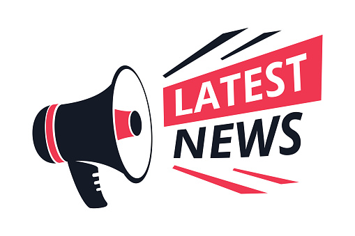 Latest News Isolated Icon Megaphone Or Bullhorn Breaking Report Vector Info  Announcement And Tv Or Radio Broadcast Stock Illustration - Download Image  Now - iStock