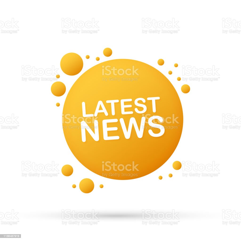 Latest News Sticker Daily Newspaper Or News Report Banner