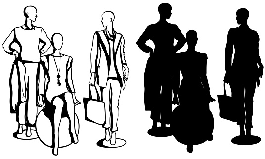 Latest Trend Fashion Mannequins Silhouette