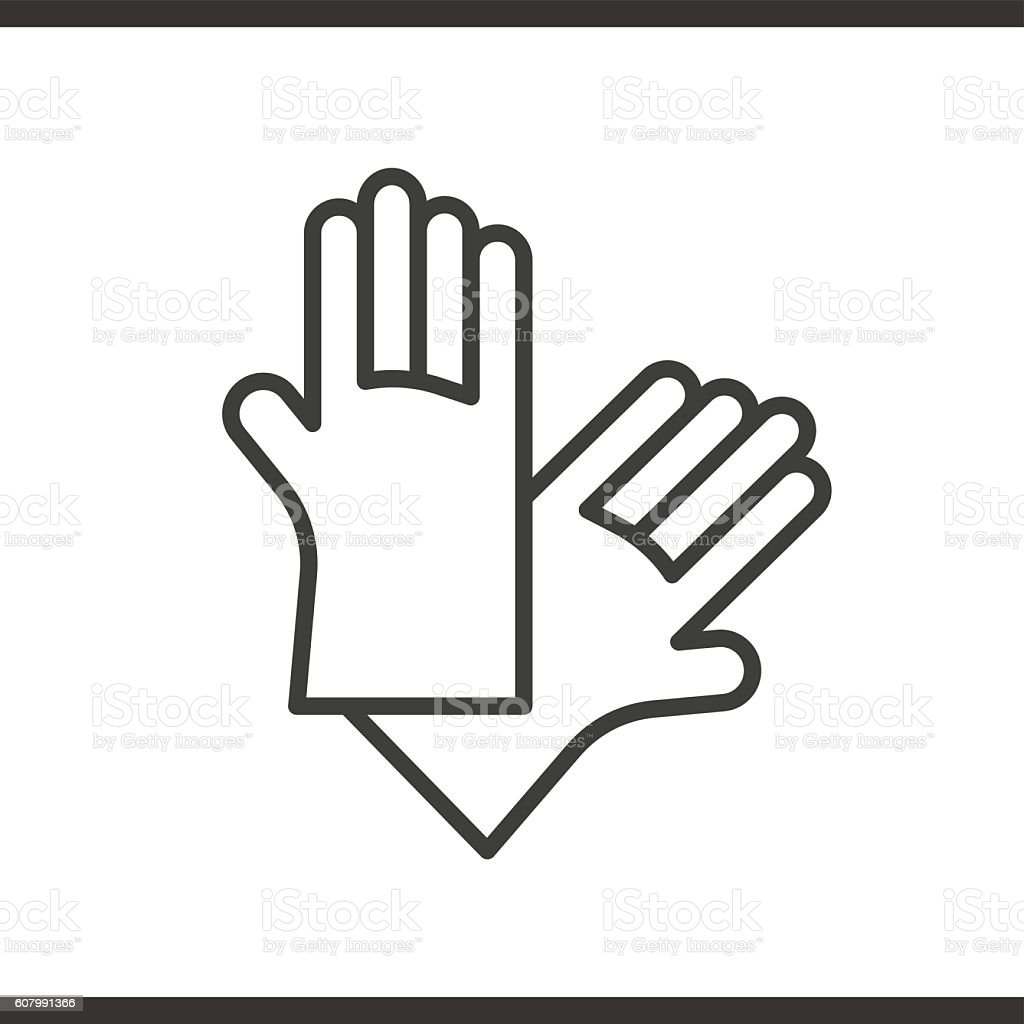 Latex Gloves Linear Icon Rubber Arms Thin Line Stock Vector Art