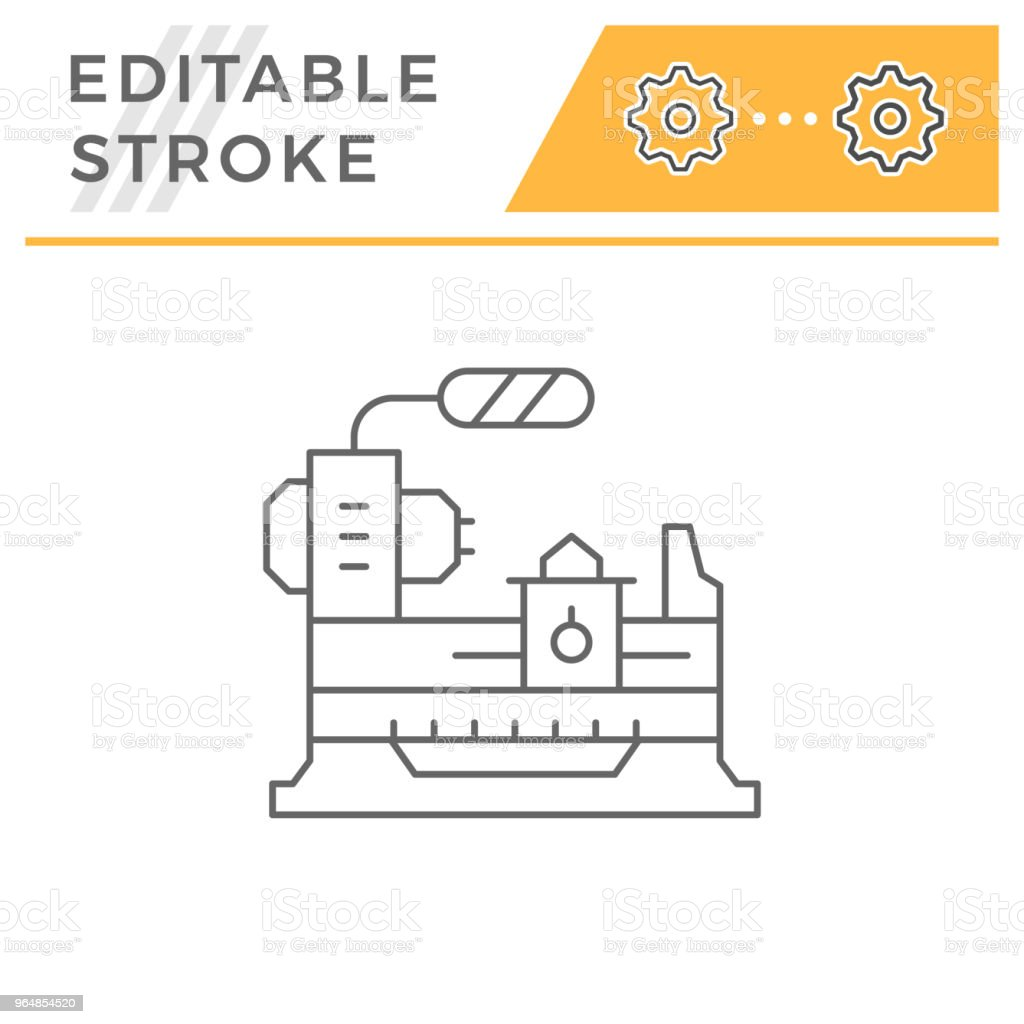 Lathe machine line icon royalty-free lathe machine line icon stock vector art & more images of automated