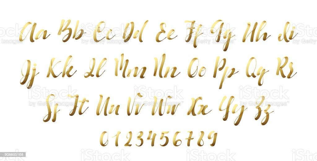 Alphabet latin golen. Ruban de style police lettre alphabet latin golen ruban de style police lettre vecteurs libres de droits et plus d'images vectorielles de aliments et boissons libre de droits