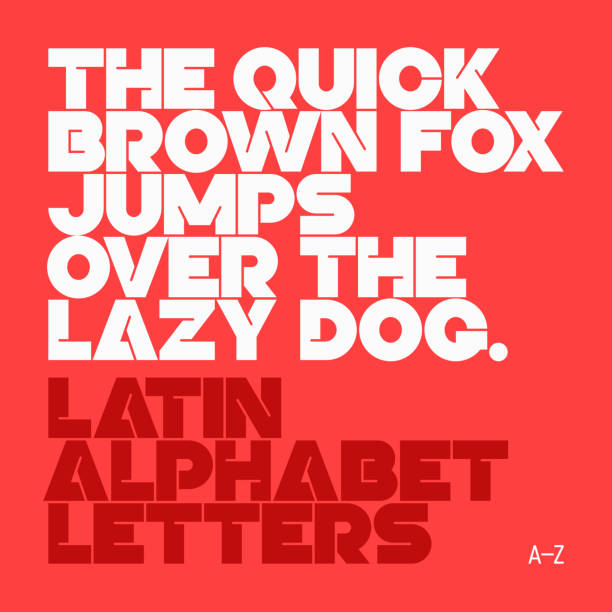 Latin alphabet letters Vector illustration with transparent effect. Eps10. funky stock illustrations