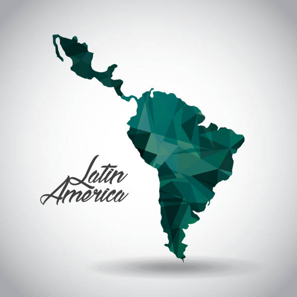 latin america design - south america maps stock illustrations
