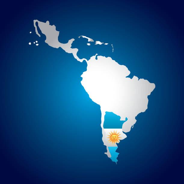 latin america map vector art illustration
