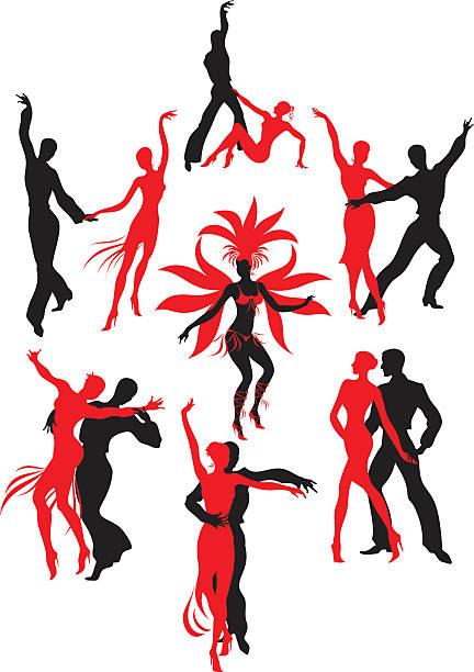 bildbanksillustrationer, clip art samt tecknat material och ikoner med latin american dances - latino music