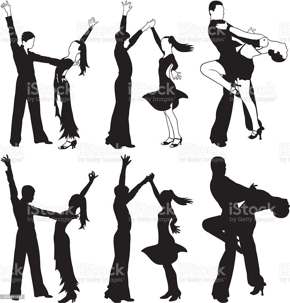 latin dance, ballroom dnacing royalty-free stock vector art