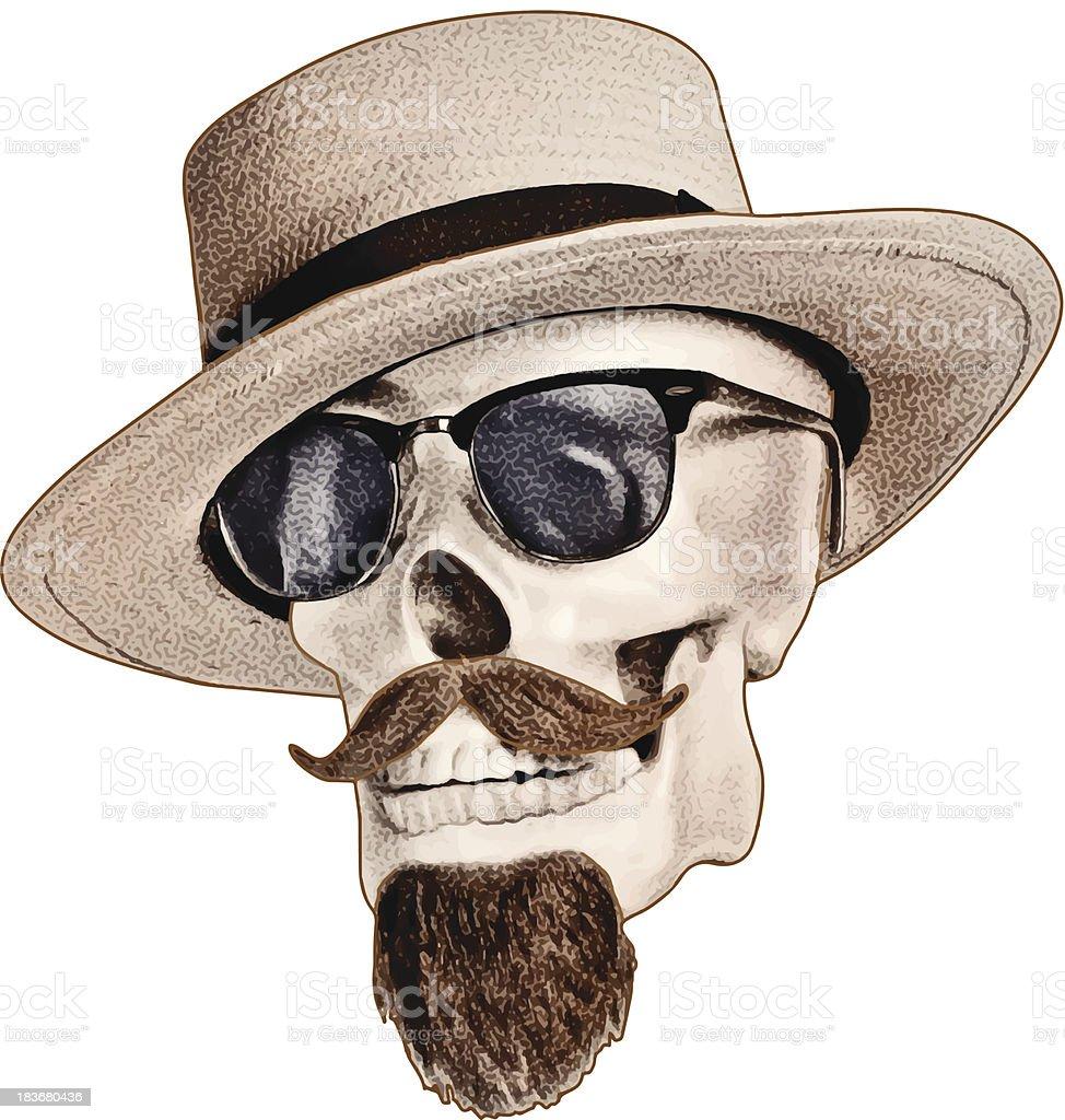 Latin Lover Skull vector art illustration