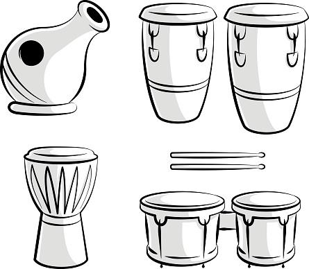 Latin Percussion Drum Instrument Icons