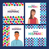 istock latin woman and man cartoons of national hispanic heritage month vector design 1269592945