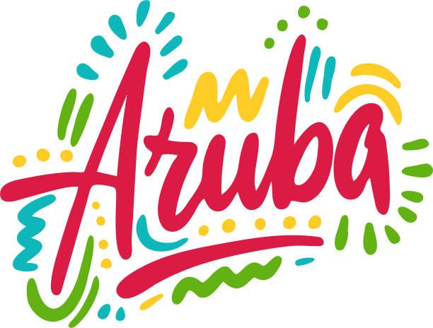 stockillustraties, clipart, cartoons en iconen met latin_america05-01 - aruba