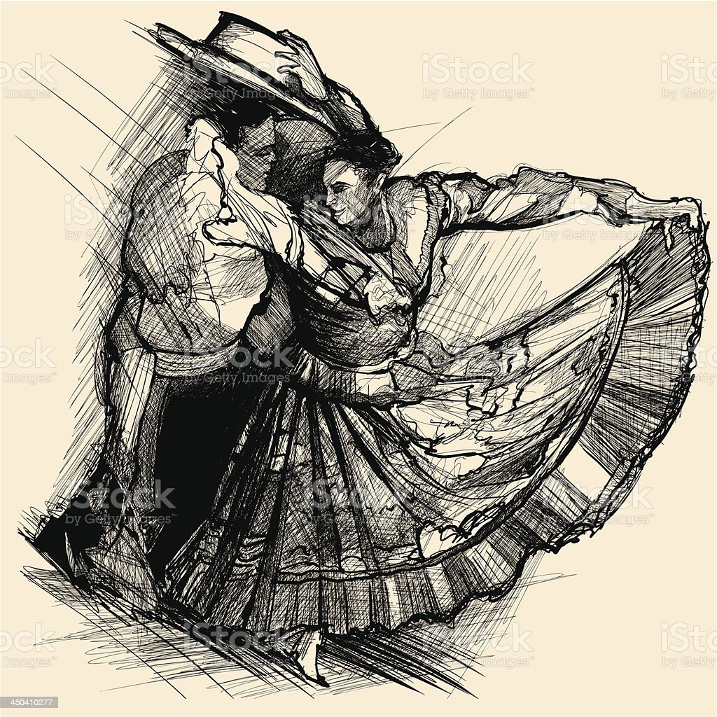 latino dance vector art illustration