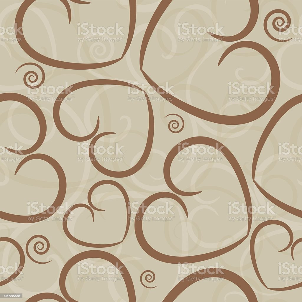 Latte colored hearts seamless tile royalty-free latte colored hearts seamless tile stock vector art & more images of backgrounds