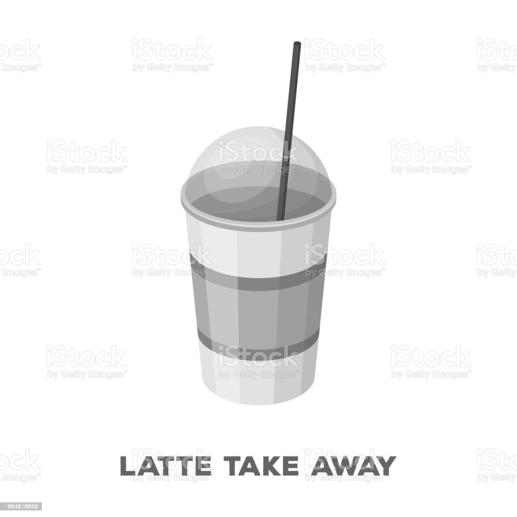 Latte for take-away.Different types of coffee single icon in monochrome style vector symbol stock illustration web. royalty-free latte for takeawaydifferent types of coffee single icon in monochrome style vector symbol stock illustration web stock vector art & more images of cafe