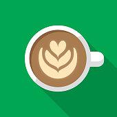 istock Latte Icon Flat 1190249078