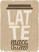 Latte macchiato- coffe to go design. EPS10 vector illustration, global colors, easy to modify.