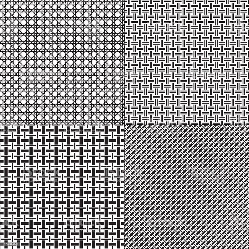 Lattice Patterns vector art illustration